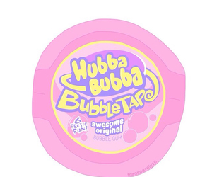 hubba bubba, bubbles, and pink image