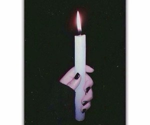 light, black, and candle image