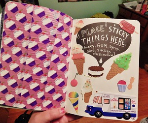 creative, ice cream, and wreck this journal image