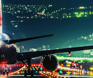 light, airplane, and travel image
