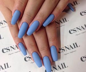 nails, blue, and blue nails image
