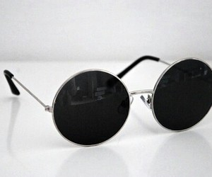 sunglasses, black, and glasses image