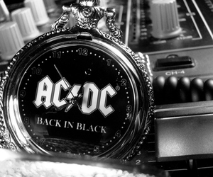ACDC, back in black, and clock image