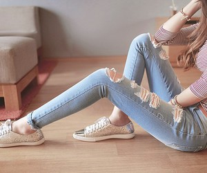 beauty, jeans, and clothes image