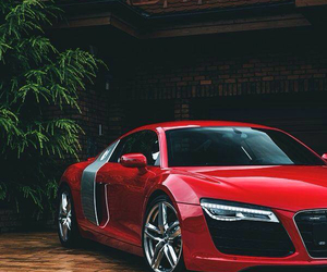 car, audi, and red image