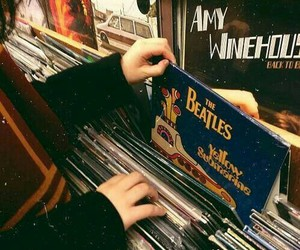 music, the beatles, and vintage image