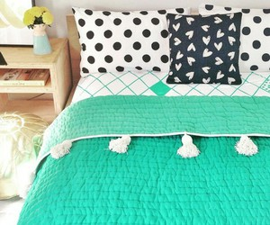 bedroom, bed, and decorating image