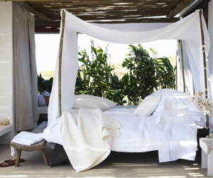 bed, nature, and outdoors image