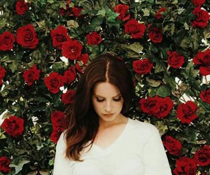 lana del rey, rose, and flowers image