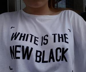 white, black, and fashion image