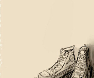 drawing, shoes, and converse image