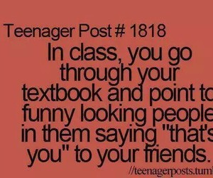 funny, friends, and class image