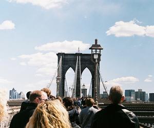 people, photography, and bridge image