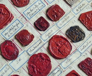 history, stamp, and wax seal image