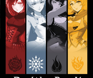 ruby rose, american anime, and weiss schnee image