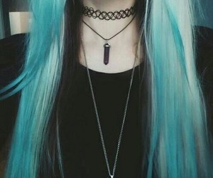 aqua, goth, and neck image