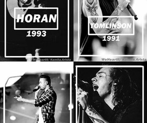 one direction and black and white image