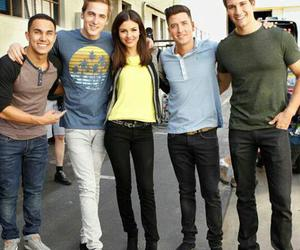 big time rush and victoria justice image