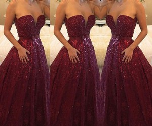 dress, red, and party image