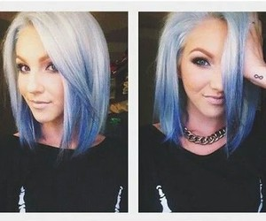hair, blue, and short hair image
