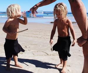 kids, summer, and beach image