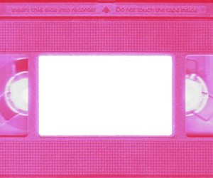 pink, overlay, and vhs image