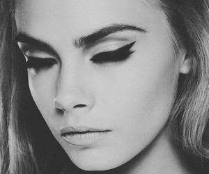 model, cara delevingne, and makeup image