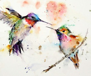 bird, art, and painting image