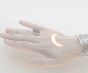 moon, pale, and hand image