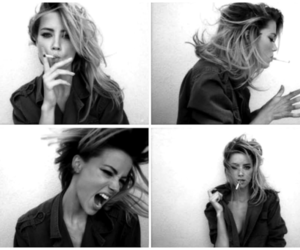girl, black and white, and amber heard image
