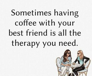 bff, friends, and coffee image
