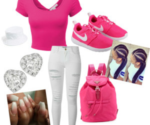 nails, Polyvore, and pink top image