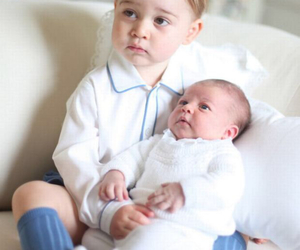 prince george, princess, and princess charlotte image