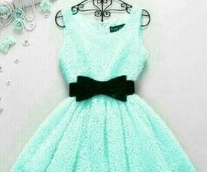 dress, blue, and black image