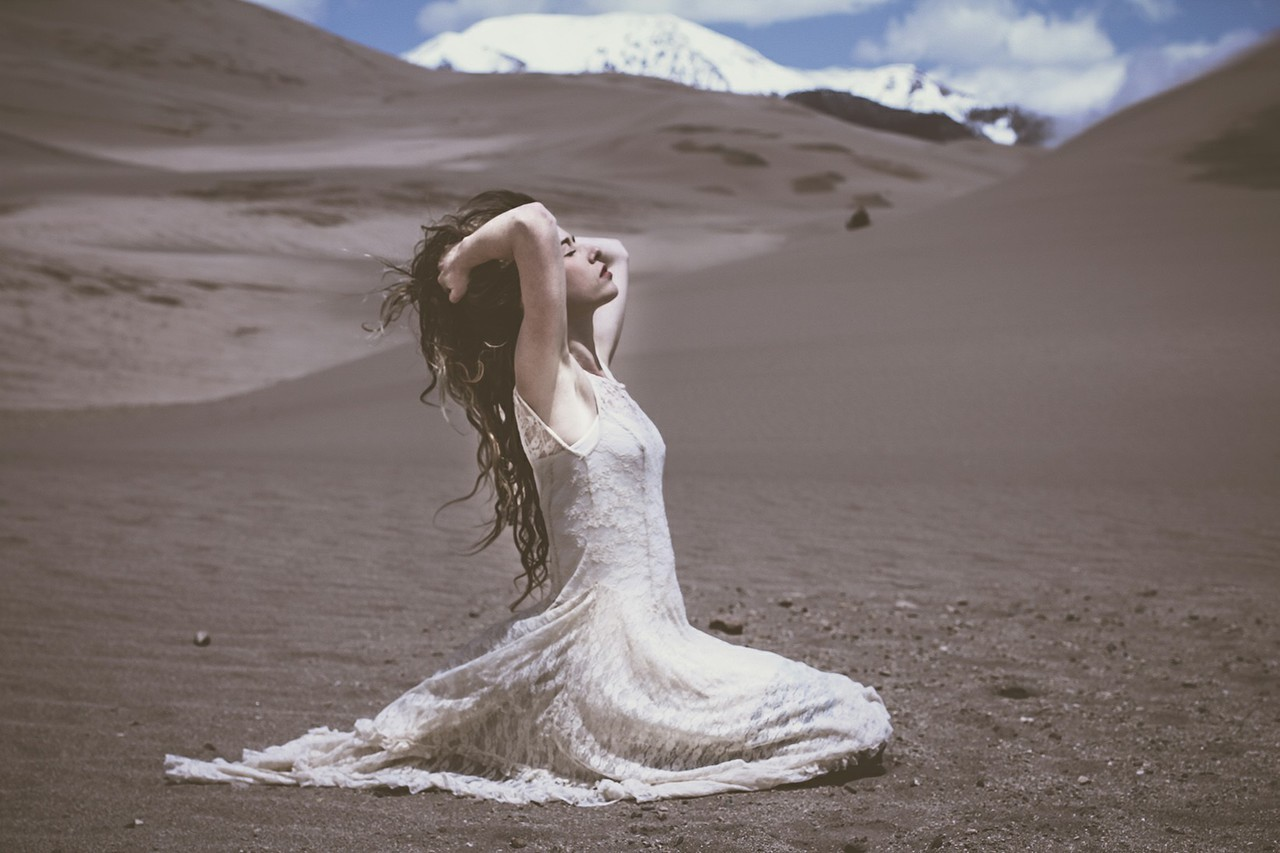 dress, desert, and hippie image