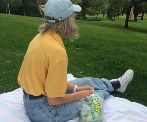 girl, yellow, and aesthetic image