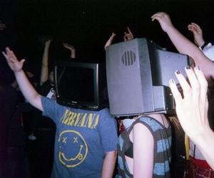 grunge, nirvana, and tv image