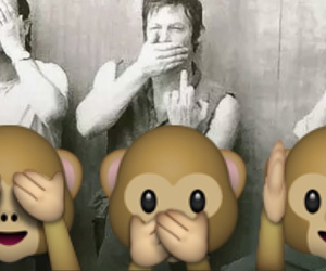 grunge, monkey, and the walking dead image