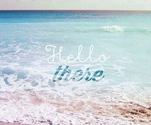 beach, hello, and summer image