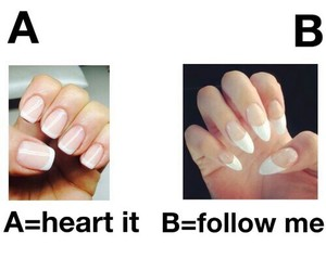 nails, follow, and heart it image