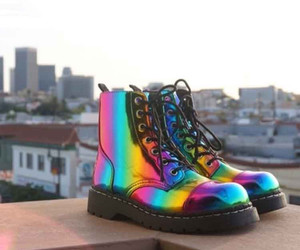 shoes, fashion, and rainbow image