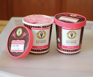 food, ice cream, and pink image