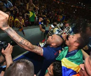 Barca, football, and neymar image