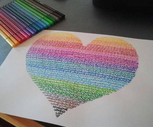 heart, love, and art image