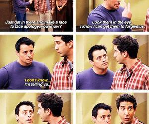 Joey, joey tribbiani, and ross image