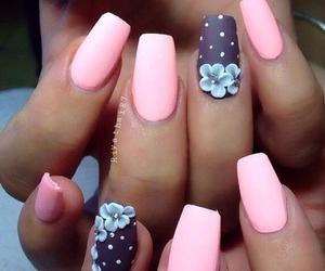 blue, girls, and nail polish image