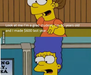 bart, student, and bart simpson image