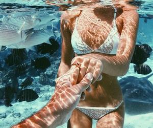 summer, couple, and bikini image