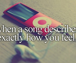 music, song, and feelings image