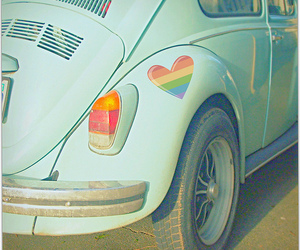 car, heart, and beetle image
